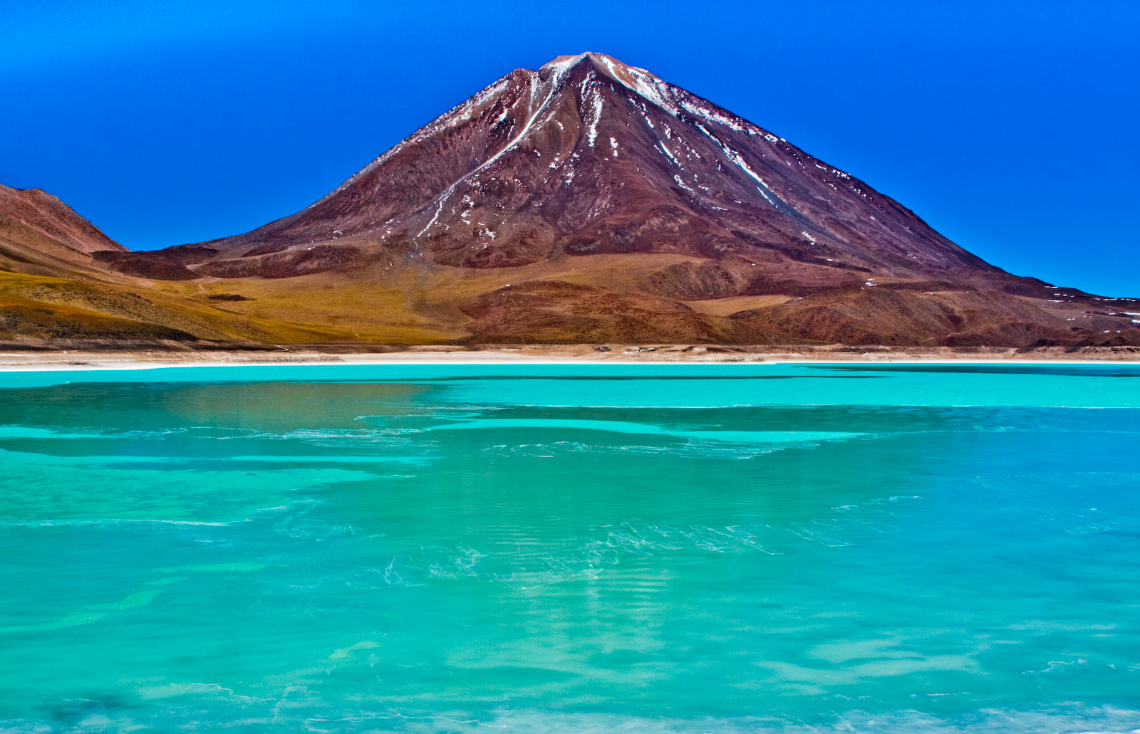 Laguna Verde Potosi Bolivia is tourism